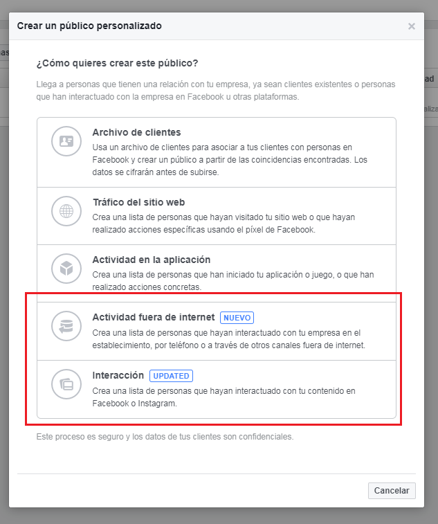 Facebook Ads_Nuevos Públicos Personalizados