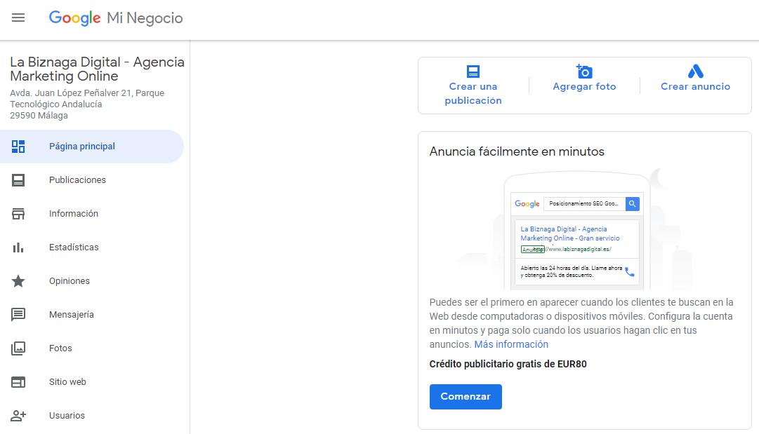 Cómo publicar en Google My Business-labiznagadigital-1