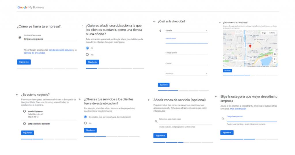 Crear cuenta de Google My Business primeros pasos