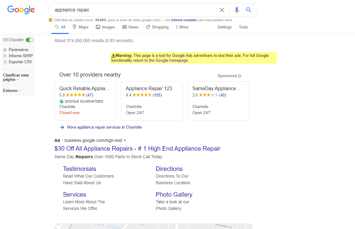 Anuncios servicios locales google