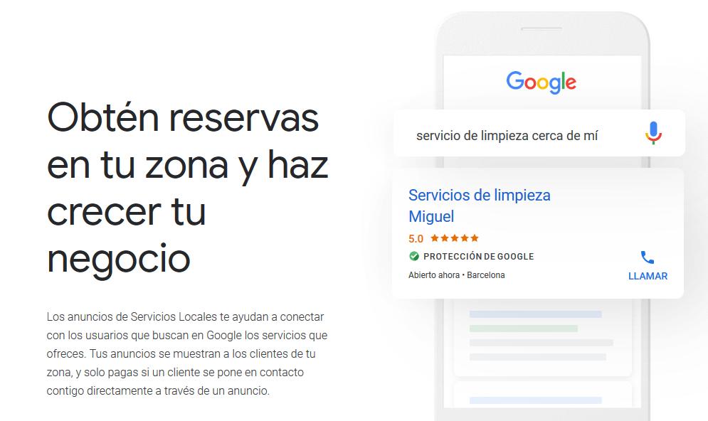 Qué son los anuncios de servicios locales de Google
