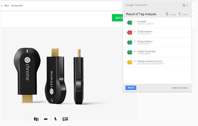 Extensiones de Google Chrome - Tag Assistant Legacy