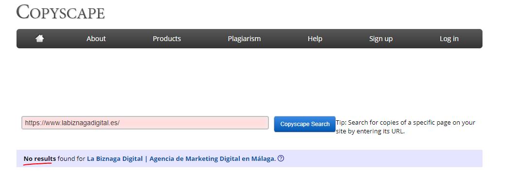 copyscape herramienta contenido duplicado seo